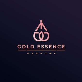 Logotipo de perfume de luxo