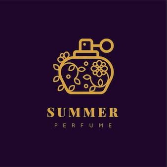 Logotipo de perfume floral design de luxo