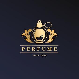 Logotipo de perfume luxuoso