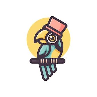 Logotipo de periquito fofo