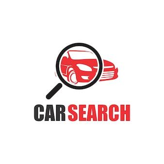 Logotipo de pesquisa de carro