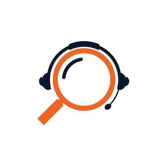 Logotipo de pesquisa de podcast