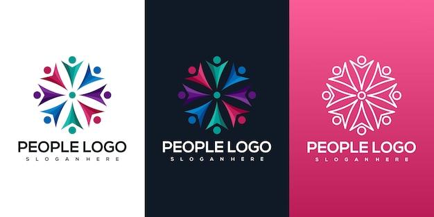 Logotipo de pessoas abstrack