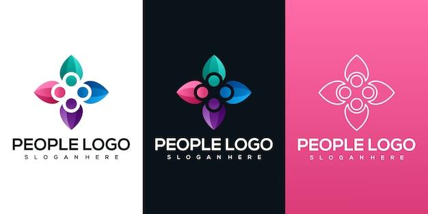 Logotipo de pessoas abstratas
