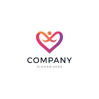 Logotipo de pessoas do amor