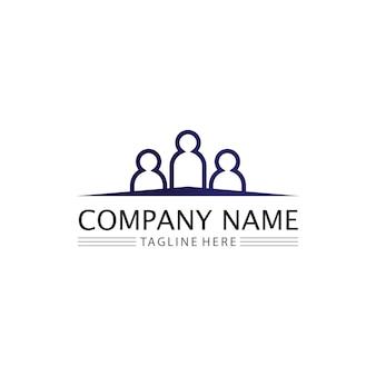Logotipo de pessoas, equipe, trabalho de pessoas de sucesso, grupo e comunidade, vetor e design de logotipo de empresa e negócios cuidado, ícone de família logotipo de sucesso