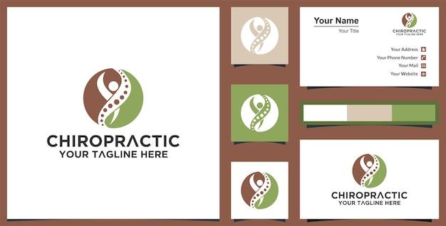 Logotipo de pessoas saudáveis e cartão de visita premium