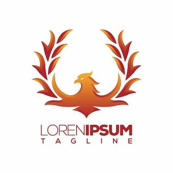 Logotipo de phoenix ou modelo de logotipo