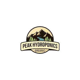 Logotipo de pico hidropônico