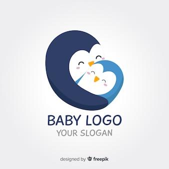 Logotipo de pinguim de bebê