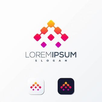 Logotipo de pixel pronto para uso