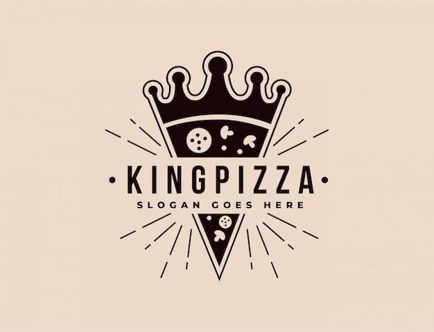 Logotipo de pizza coroa