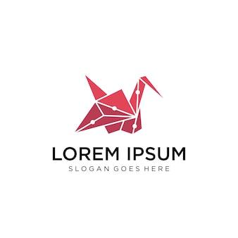 Logotipo de polígono de pássaro