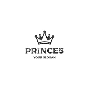Logotipo de príncipes de coroa