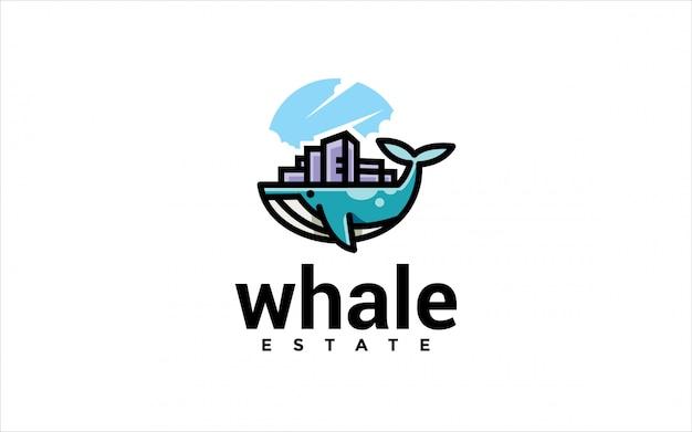 Logotipo de propriedade de baleia