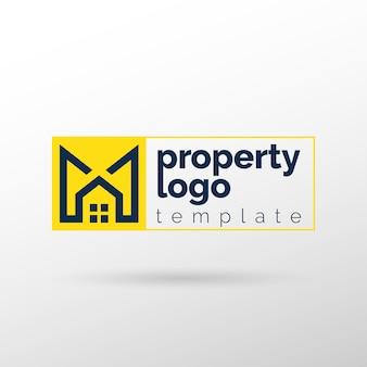 Logotipo de propriedade e imóveis