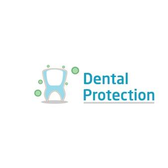 Logotipo de proteção dentária