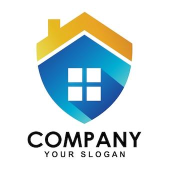 Logotipo de proteção para casa