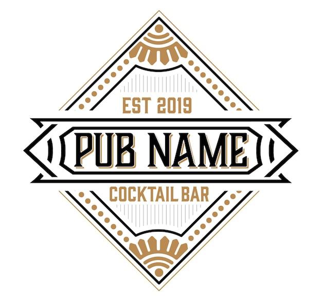 Logotipo de pub vintage vintage