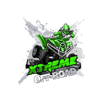 Logotipo de quadriciclo off-road atv, extreme off-road