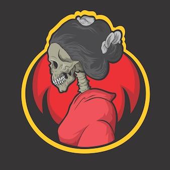 Logotipo de quimono de caveira