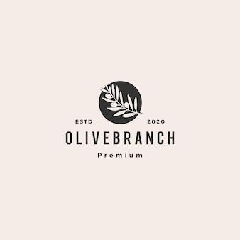 Logotipo de ramo de oliveira