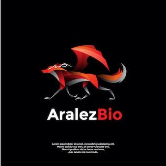 Logotipo de raposa alada