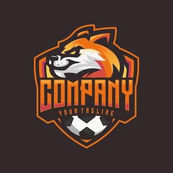 Logotipo de raposa de esportes modernos