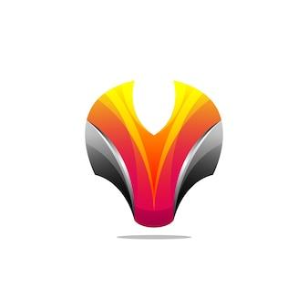 Logotipo de raposa incrível com abstrato