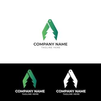 Logotipo de remoção de árvore