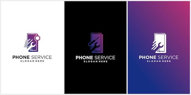 Logotipo de reparo de telefone celular loja de telefone logotipo de tecnologia de reparo de telefone celular