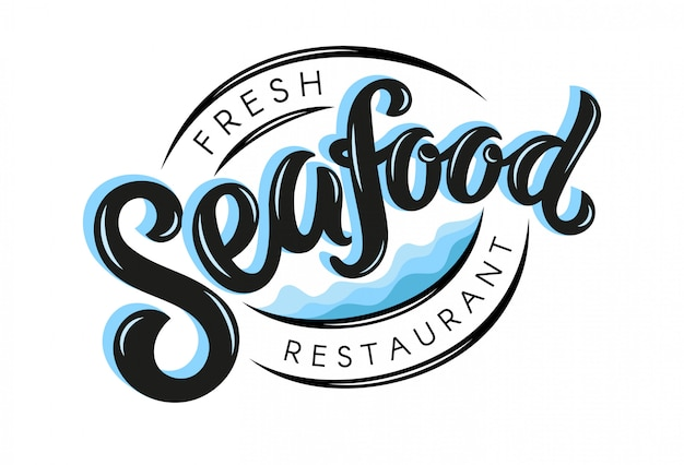 Logotipo de restaurante de frutos do mar frescos