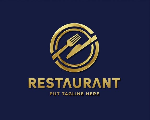 Logotipo de restaurante de luxo para negócios