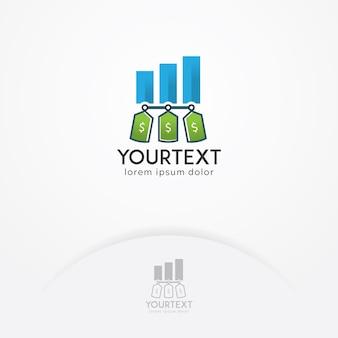 Logotipo de rótulo de finanças