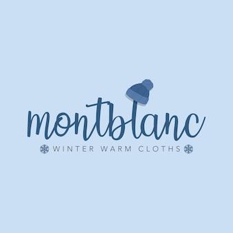 Logotipo de roupas de inverno