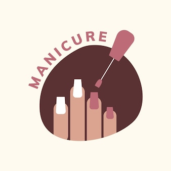 Logotipo Modelo Manicure Baixar Vetores Grátis