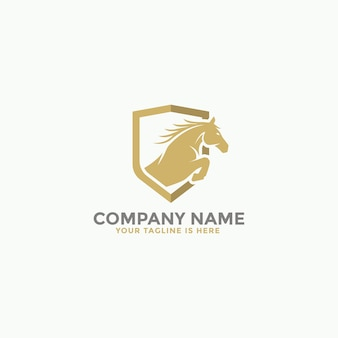 Logotipo de salto de cavalo