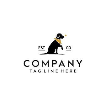 Logotipo de salvamento do cão sem abrigo