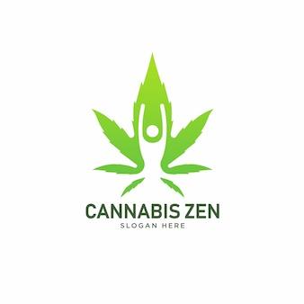 Logotipo de saúde de cannabis