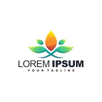 Logotipo de saúde de flores