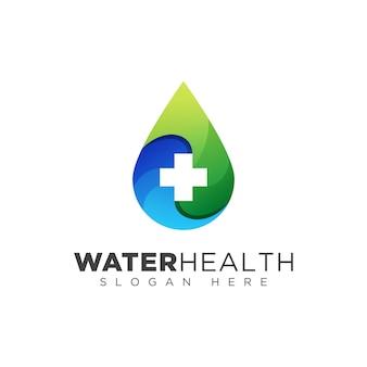 Logotipo de saúde gota de água, design de logotipo de doadores de sangue