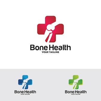 Logotipo de saúde óssea projeta conceito, tratamento ósseo