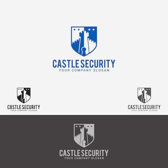 Logotipo de segurança do castelo