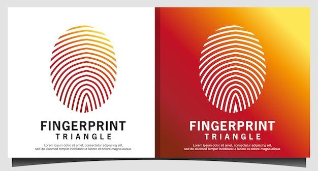 Logotipo de segurança segura de bloqueio de impressão digital