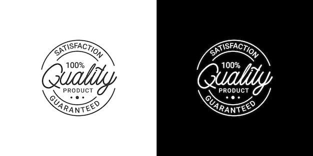 Logotipo de selo de produto de qualidade garantida