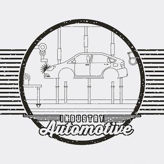 Logotipo de serviço automotivo automotivo da indústria