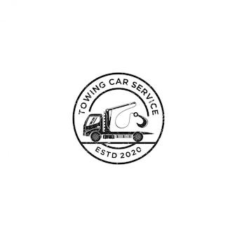 Logotipo de serviço de carro de reboque