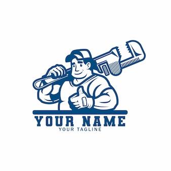 Logotipo de serviços de encanamento