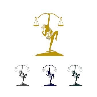 Logotipo de seta de justiça