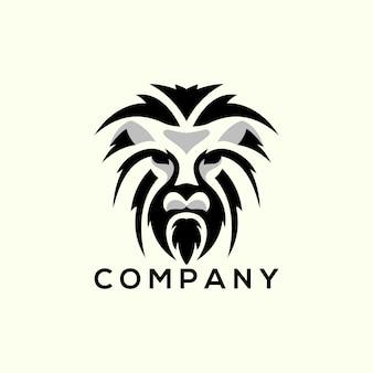 Logotipo de silhouatte de leão